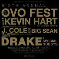 OVO Fest 2015 feat Drake/J.Cole  AUG 2&3  2 Day Pass LAWN - $350