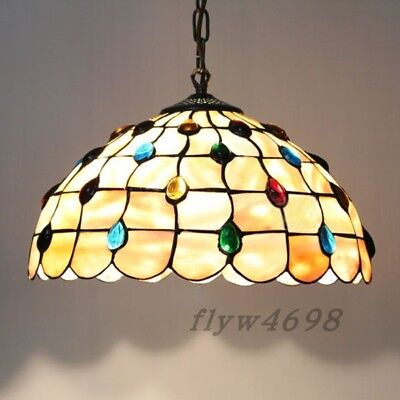 Mediterranean Stained Glass Tiffany Peacock Pendant Lights Hanging Ceiling (Peacock Tiffany Hanging)