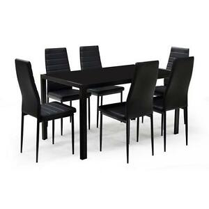 Brand New Glass Top Dining Table W 6 Chairs 59999