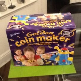 Boxed chocolate coin maker