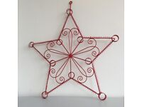 Red star card display mount