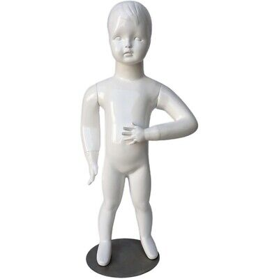 Mn-534 Glossy White Abstract Standing Baby Toddler Mannequin 30.5 Tall 6-9 Mo