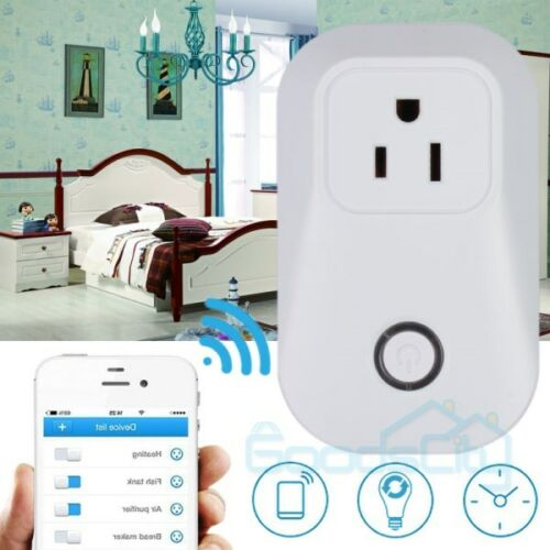 WiFi Remote Smart Control Timer Switch Power Socket Outlet For Android iPhone UL