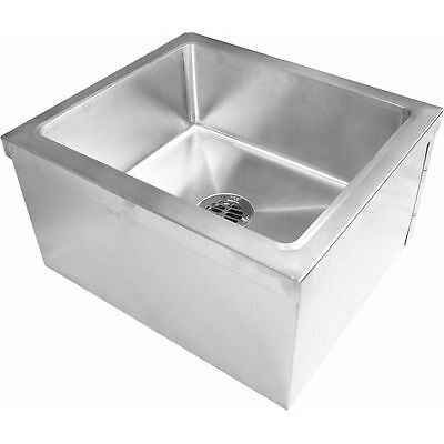 Commercial Stainless Steel Floor Mount Mop Sink20wx24lx11-12h