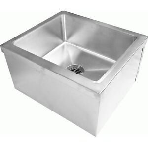 Industrial Mop Sink : Details about Commercial Stainless Steel Floor Mount Mop Sink,20