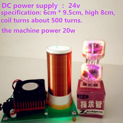 Dc 24v Music Tesla Coil Plasma Horn Wireless Transceiver Spacer Lighting
