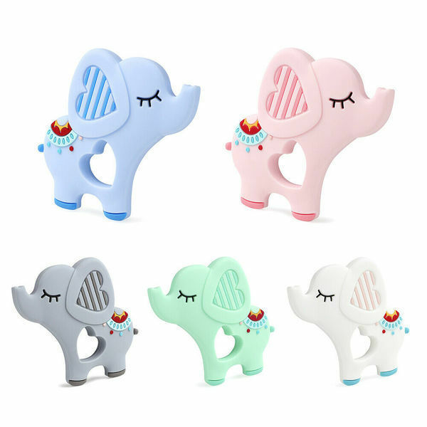 baby teether silicone lovely elephant soother massage