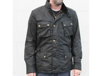 MENS BELSTAFF CROSBY PURE MOTORCYCLE JACKET SZ LARGE / 42 CHEST