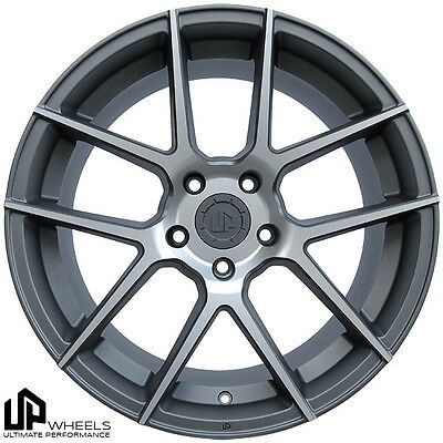 "19"" ULTIMATE PERFORMANCE UP520 MATTE GUN MACHINED CONCAVE WHEELS RIMS FITS JDM"