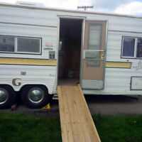 22 FT Travel Trailer interior removed