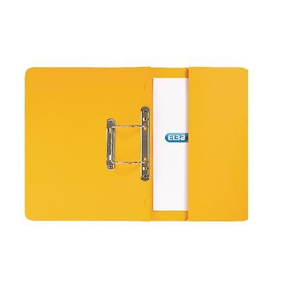 Elba Strongline Foolscap Yellow Spring Pocket File Pack of 25 [GX30119]