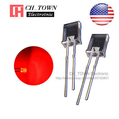 100pcs 2x5x7mm Water Clear Red Light Rectangle Rectangular Square Led Diodes Usa