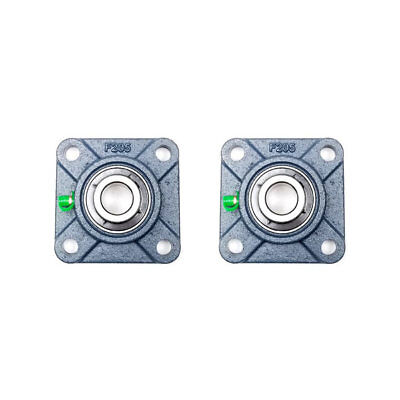 2x Ucf205-14 78 Square 4 Bolt Flange Bearing