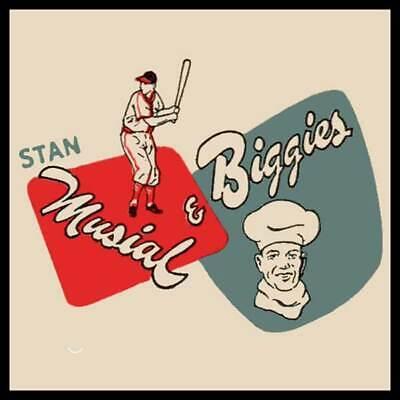 Stan Musial Biggies Restaurant St Louis Missouri Fridge Magnet