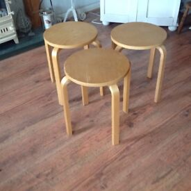Wooden Stacking Stools