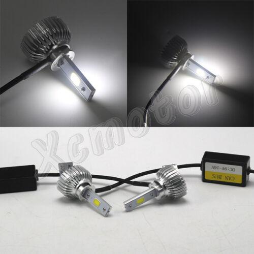 Pair H3 2600LM 20W Car LED Headlight Fog Light Kit Lamp COB Head Bulb 12V White