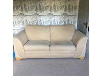 Fantastic beige double sofa bed
