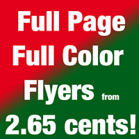 """Full color, 8.5""""x11"""" flyers from 2.65 cents GTA Toronto Brampton"""
