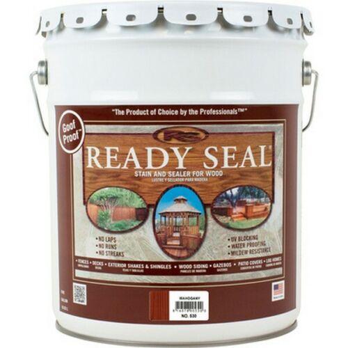 Ready Seal 530 Exterior Wood Stain and Sealer - Mahogany, 5 Gallons