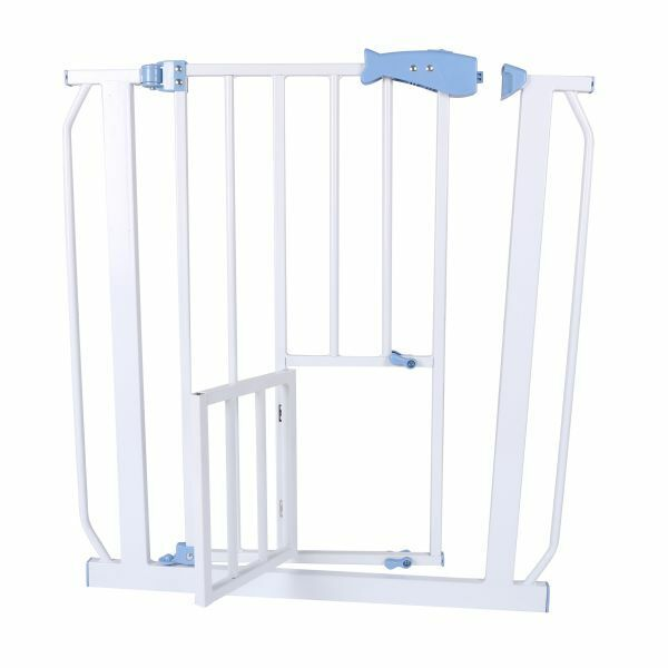 Pet Dogs Baby Safety Gate Metal Gate Block Stair Block Walk Through Hearth Fence