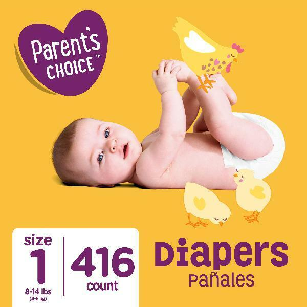 Size 1 Baby Diapers, 416 count (Mega Box) Parent