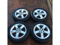 Audi A3 alloys + winter tyres