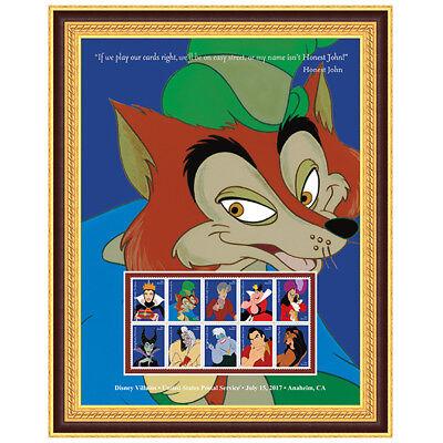 USPS New Disney Villains Honest John Framed Art
