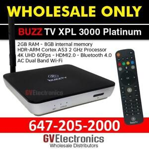 BUZZTV XPL 3000 PLATINUM & BLACK ANDROID BOX NOW AVAILABLE 2GB WHOLESALE ONLY