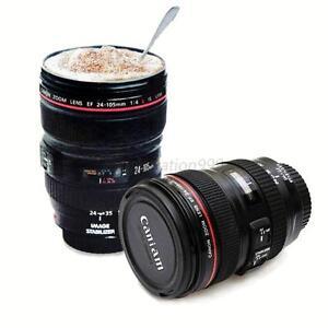 Durable Black Camera Lens Cup Travel Coffee Mug Drinks Multi Purpose Holder UK