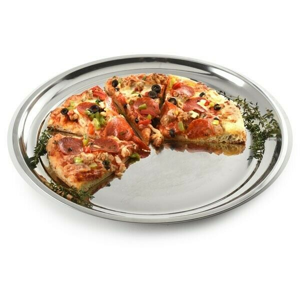 Pizza Pan Serving Platter Stainless Steel 13.5 Inch Norpro 5