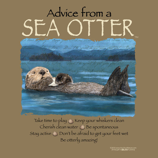 ADVICE FROM A SEA OTTER SMALL  ADULT T-SHIRT