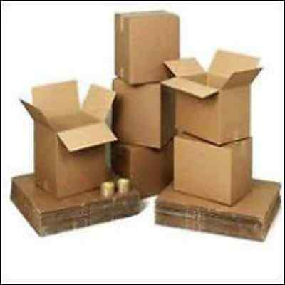 10x Cardboard Boxes Small Packaging Postal Post Shipping Mailing Storage 8x6x4