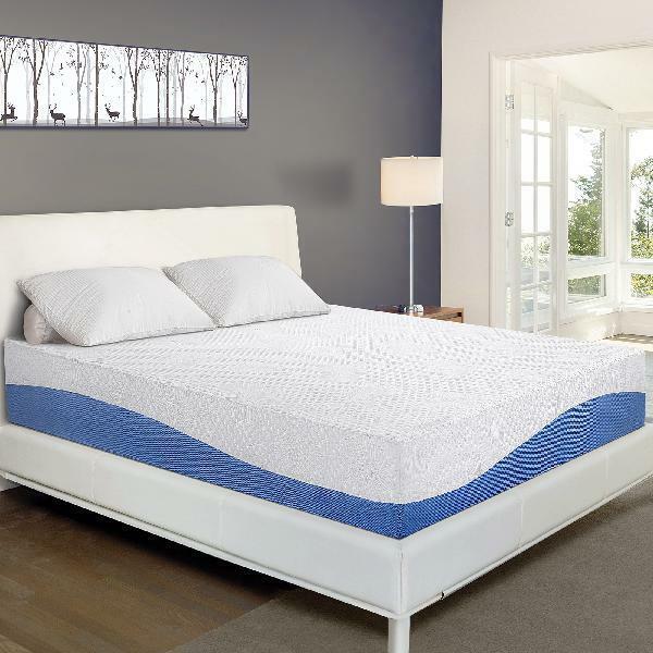 10 inch aquarius gel memory foam mattress
