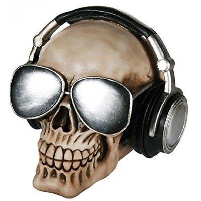 Spardose Schädel Kopfhörer und Sonnenbrille von / aus Sonne