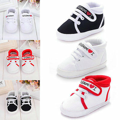 Newborn Toddler Baby Boy Girl Kid Soft Sole Crib Shoes Sneaker 0-18M Trainers