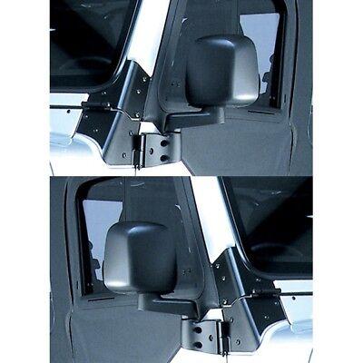 Black Door Mirror Kit for Jeep Wrangler YJ TJ 1987-2006 Rugged Ridge 11002.09