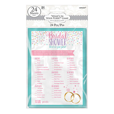 WHATS IN YOUR PURSE GAME BRIDE TO BE BRIDAL SHOWER HEN PARTY FOR 24 GUESTS
