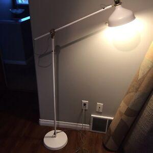 White reading lamp