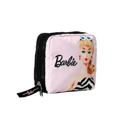 LeSportsac Barbie Collection Med Square Cosmetic in Original Barbie NWT