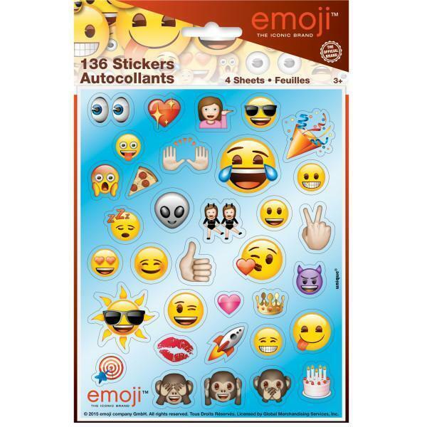 Emoji Sticker Sheets, 4ct