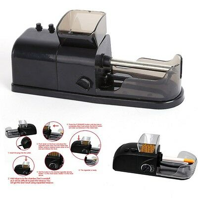 Electric Speed Automatic Cigarette Tobacco Rolling Machine Roller Injector Maker