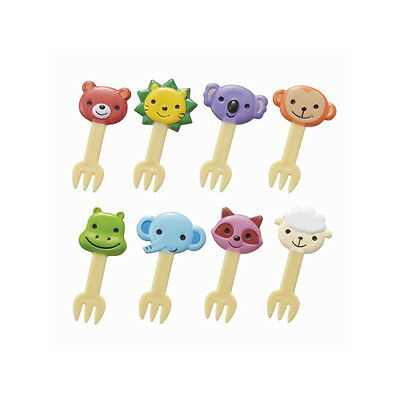 Torune Cute Animal picks forks for Bento Box Lunch Box 8 pieces (14C btm-1348)