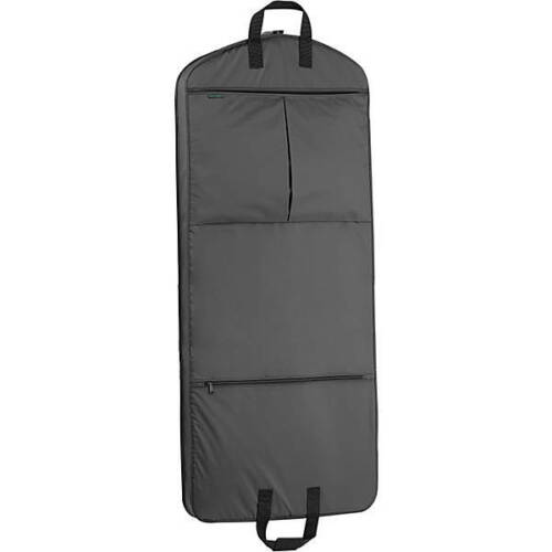"""Wally Bags 50"""" x 22"""" Dress Bag With Two Pockets - BLACK -"""