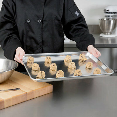 12-pack 18 X 13 Half Size Aluminum Baking Bun Sheet Pans - Wire In Rim