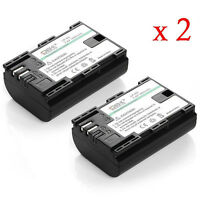 Canon Eos 6D 60D 60Da 7D x 2pcs Battery+1Charger EOS+Car charger