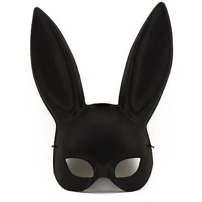 Black Masquerade Bunny Rabbit  Mask Adult Halloween Costume