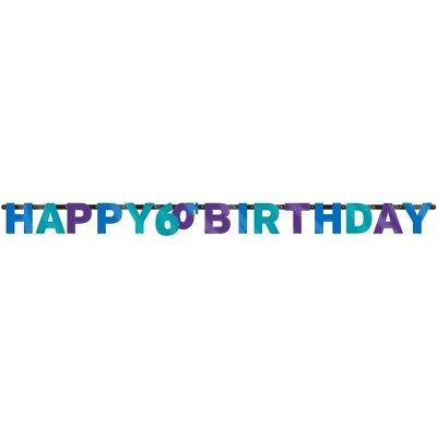 60th Banner 7 ft Party Continues Birthday / Anniversary Party Hanging Decoration - 60th Birthday Decor