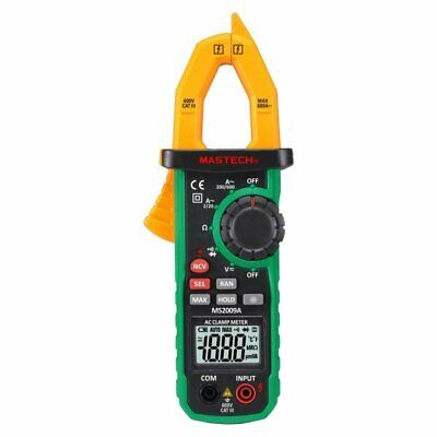 Mastech Ms2009c 6000 Count Digital Clamp Meter With Non-contact Voltage Detector