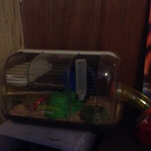 Hamster cage with tubes :)