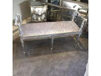 NEW craftsman made velvet bench/stool.